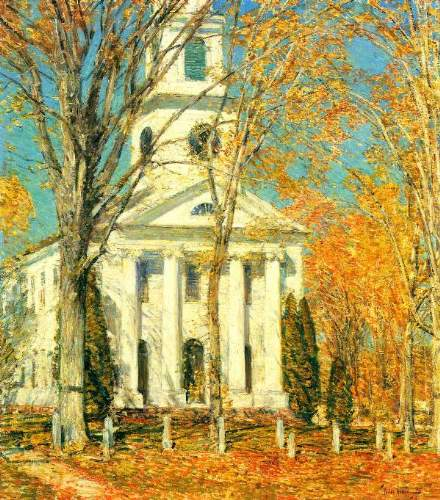 Childe Hassam - The Church of Old Lyme, Connecticut [2]